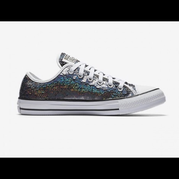 b22368b75d38 Converse Shoes | Chuck Taylor All Star Gunmetal Sequined | Poshmark